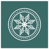 Stamp of snowflake. Stock Image