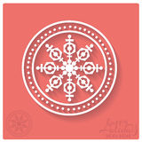 Stamp of snowflake with shadow. Royalty Free Stock Photography