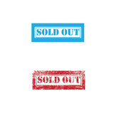 Stamp sold out imprint Stock Photo
