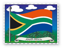 Stamp South Africa Stock Photos