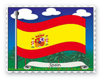 Stamp Spain Stock Photo