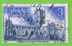Stamp Spain Compostela Holy Year - Sello España Año Santo Comp Stock Photography