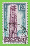 Stamp Spain Compostela Holy Year - Sello España Año Santo Comp Royalty Free Stock Image