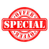 Stamp of Special offer. Red, round Royalty Free Stock Photos