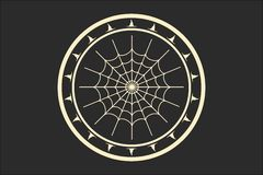 Stamp with spider web Royalty Free Stock Images