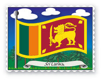 Stamp Sri Lanka Stock Photos