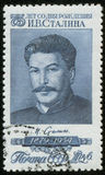 Stamp with Stalin portrait Royalty Free Stock Images