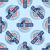 Stamp with the Statue of Liberty and New York Royalty Free Stock Images