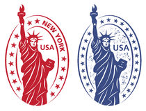 Stamp with Statue of Liberty Stock Photos