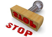 STAMP STOP - 3D Royalty Free Stock Images
