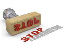 Stamp Stop Terrorism - 3D Royalty Free Stock Photos