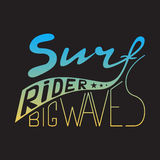 Stamp of surf rider for typography Stock Photos