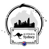 Stamp Sydney Stock Images