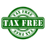 Stamp of Tax free. Round, green Royalty Free Stock Photo