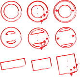 Stamp templates. Blank Stamp templates for your design Stock Photos