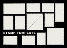 Stamp templates Stock Photography