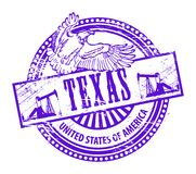 Stamp Texas. Grunge rubber stamp with name of Texas Stock Photo