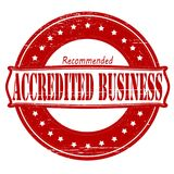 Accredited business. Stamp with text accredited business inside,  illustration Royalty Free Stock Photos