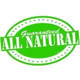 All natural. Stamp with text all natural inside,  illustration Stock Photos