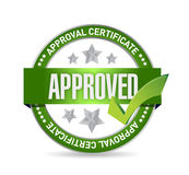 Stamp with text approved. illustration Stock Image