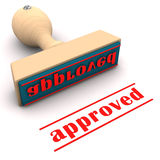 Stamp Approved Royalty Free Stock Photo
