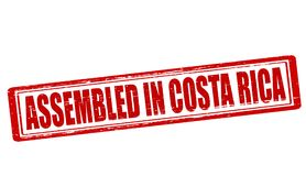 Assembled in Costa Rica. Stamp with text assembled in Costa Rica inside,  illustration Royalty Free Stock Image