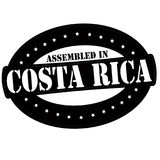 Assembled in Costa Rica. Stamp with text assembled in Costa Rica inside,  illustration Stock Photography