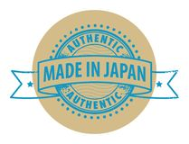 Stamp with the text Authentic, Made in Japan Stock Photos
