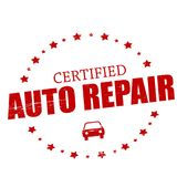 Auto repair. Stamp with text auto repair inside,  illustration Stock Photography
