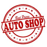 Auto shop. Stamp with text auto shop inside,  illustration Royalty Free Stock Image