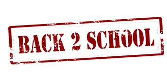 Back to school. Stamp with text back to school inside,  illustration Stock Photos