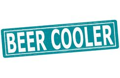 Beer cooler. Stamp with text beer cooler inside,  illustration Royalty Free Stock Photography