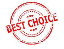 Best choice. Stamp with text best choice inside,  illustration Stock Images