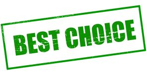 Best choice. Stamp with text best choice inside,  illustration Royalty Free Stock Photography