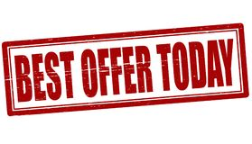 Best offer today stock photography