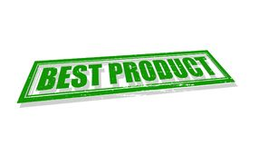 Best product. Stamp with text best product inside,  illustration Stock Photography