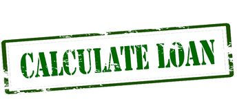 Calculate loan. Stamp with text calculate loan inside,  illustration Royalty Free Stock Photos