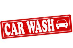 Car wash. Stamp with text car wash inside,  illustration Stock Images