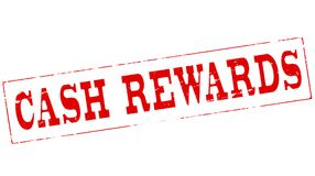 Cash rewards. Stamp with text cash rewards inside,  illustration Royalty Free Stock Photo