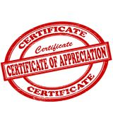 Certificate of appreciation. Stamp with text certificate of appreciation inside,  illustration Royalty Free Stock Image