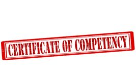 Certificate of competency. Stamp with text certificate of competency inside,  illustration Stock Photo