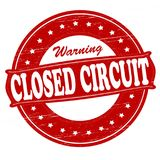 Closed circuit. Stamp with text closed circuit inside,  illustration Royalty Free Stock Photo