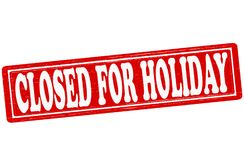 Closed for holiday. Stamp with text closed for holiday inside,  ilustration Stock Photos