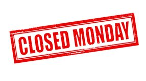 Closed maonday. Stamp with text closed monday inside,  illustration Stock Photo
