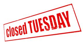 Closed tuesday. Stamp with text closed tuesday inside,  illustration Stock Photo