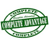 Complete advantage. Stamp with text complete advantage inside,  illustration Stock Image