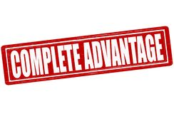 Complete advantage. Stamp with text complete advantage inside,  illustration Stock Photo