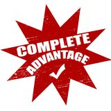 Complete advantage. Stamp with text complete advantage inside,  illustration Stock Photos