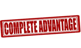 Complete advantage. Stamp with text complete advantage inside,  ilustration Royalty Free Stock Photography