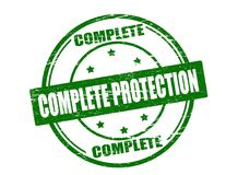 Complete protection. Stamp with text complete protection inside,  illustration Royalty Free Stock Photography